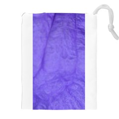 Purple Modern Leaf Drawstring Pouches (XXL)