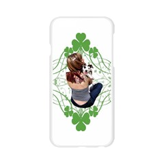 Pit Bull T Bone Lucky Puppy Apple Seamless iPhone 6/6S Case (Transparent)