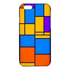 Retro colors rectangles and squares 			iPhone 6/6S TPU Case