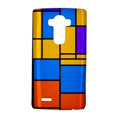 Retro colors rectangles and squares LG G4 Hardshell Case