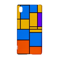 Retro colors rectangles and squares 			Sony Xperia Z3+ Hardshell Case