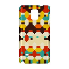 Shapes In Retro Colors samsung Galaxy Note 4 Hardshell Case