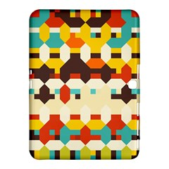 Shapes In Retro Colors samsung Galaxy Tab 4 (10 1 ) Hardshell Case