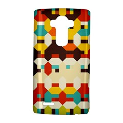 Shapes in retro colors 			LG G4 Hardshell Case