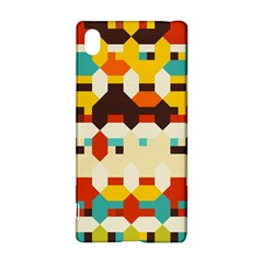 Shapes in retro colors Sony Xperia Z3+ Hardshell Case
