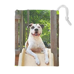 Pit Bull T-Bone s Tree House Drawstring Pouches (Extra Large)