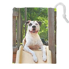 Pit Bull T-Bone s Tree House Drawstring Pouches (XXL)