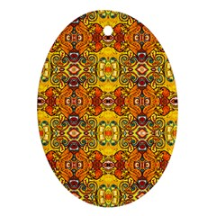 Roof555 Oval Ornament (two Sides)