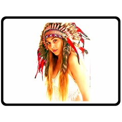 Indian 25 Fleece Blanket (large)