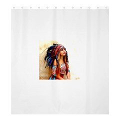 Indian 21 Shower Curtain 66  X 72  (large)