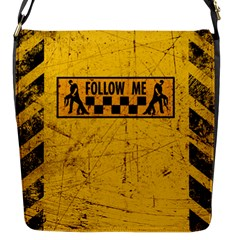 Follow Me Used Look Flap Messenger Bag (s)