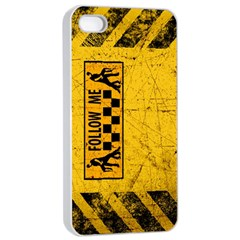 FOLLOW ME used look Apple iPhone 4/4s Seamless Case (White)