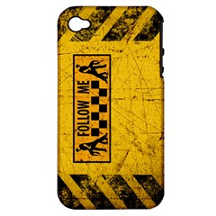 FOLLOW ME used look Apple iPhone 4/4S Hardshell Case (PC+Silicone)