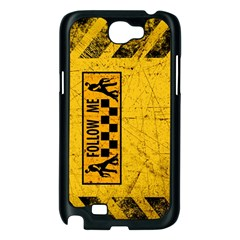 FOLLOW ME used look Samsung Galaxy Note 2 Case (Black)