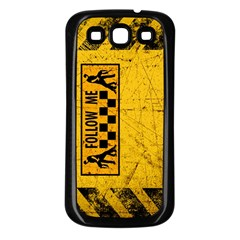 FOLLOW ME used look Samsung Galaxy S3 Back Case (Black)