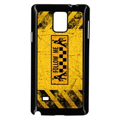 FOLLOW ME used look Samsung Galaxy Note 4 Case (Black)