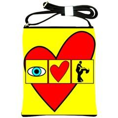 I LOVE ZOUK Shoulder Sling Bags