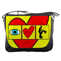 I LOVE ZOUK Messenger Bags