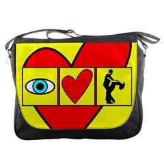 I Love Zouk Messenger Bags