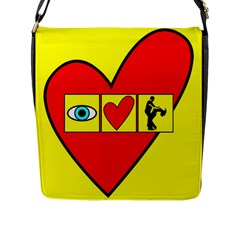 I LOVE ZOUK Flap Messenger Bag (L)