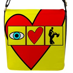 I LOVE ZOUK Flap Messenger Bag (S)
