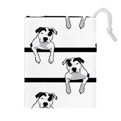 Pit Bull T Bone Graphic  Drawstring Pouches (extra Large)