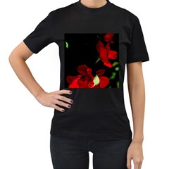 Roses 1 Women s T Shirt (black) (two Sided)
