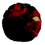 Roses 3 Large 18  Premium Flano Round Cushions Front