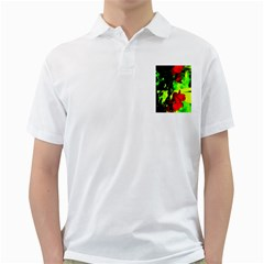 Red Roses And Bright Green 1 Golf Shirts