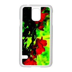 Red Roses And Bright Green 1 Samsung Galaxy S5 Case (white)