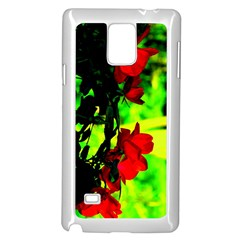 Red Roses And Bright Green 1 Samsung Galaxy Note 4 Case (white)