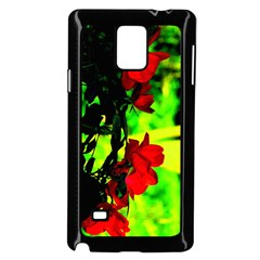 Red Roses And Bright Green 1 Samsung Galaxy Note 4 Case (black)