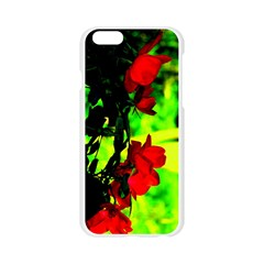 Red Roses and Bright Green 1 Apple Seamless iPhone 6/6S Case (Transparent)