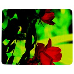 Red Roses And Bright Green 1 Jigsaw Puzzle Photo Stand (rectangular)