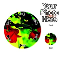 Red Roses And Bright Green 2 Playing Cards 54 (round)