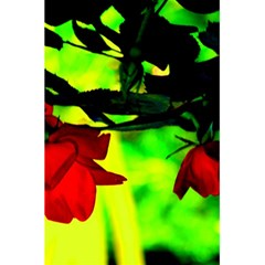 Red Roses And Bright Green 2 5 5  X 8 5  Notebooks