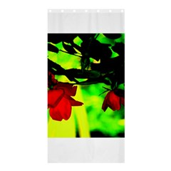 Red Roses And Bright Green 2 Shower Curtain 36  X 72  (stall)