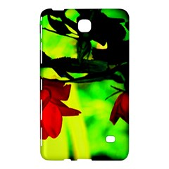 Red Roses And Bright Green 2 Samsung Galaxy Tab 4 (8 ) Hardshell Case