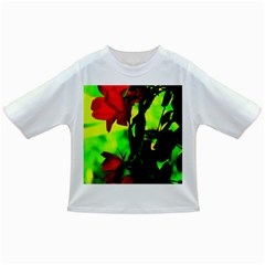Red Roses And Bright Green 3 Infant/toddler T Shirts