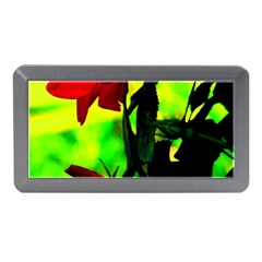 Red Roses And Bright Green 3 Memory Card Reader (mini)