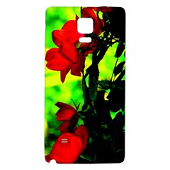 Red Roses And Bright Green 3 Galaxy Note 4 Back Case