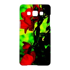 Red Roses And Bright Green 3 Samsung Galaxy A5 Hardshell Case