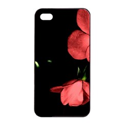 Mauve Roses 1 Apple Iphone 4/4s Seamless Case (black)