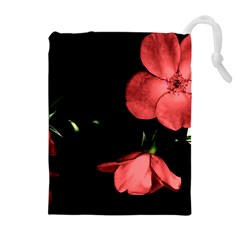 Mauve Roses 1 Drawstring Pouches (Extra Large)
