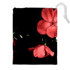 Mauve Roses 1 Drawstring Pouches (xxl)