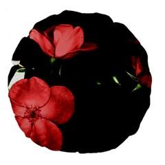 Mauve Roses 2 Large 18  Premium Round Cushions