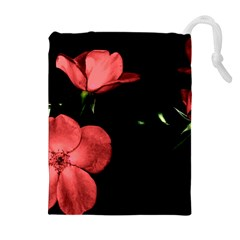 Mauve Roses 2 Drawstring Pouches (Extra Large)