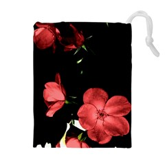 Mauve Roses 3 Drawstring Pouches (Extra Large)