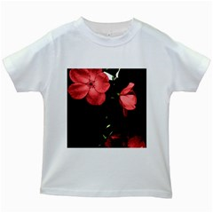Mauve Roses 4 Kids White T Shirts