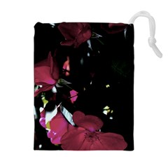 Mauve Pink Roses Drawstring Pouches (extra Large)